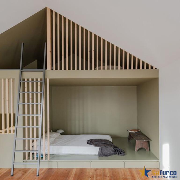 Giường tầng cho không gian gác mái