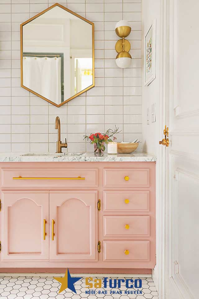 Thiết kế tủ với gam màu pastel xinh xắn